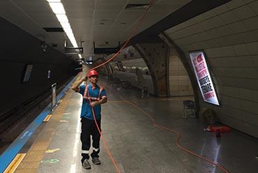 İsbak-Ulaşım A.Ş. Metro İstasyonları LCD Ekran Kablolama İşleri